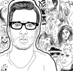 Illustration of David Farrier by Floral Foxes taken from @davidfarrier instagram