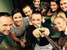 Team selfie with Archer
